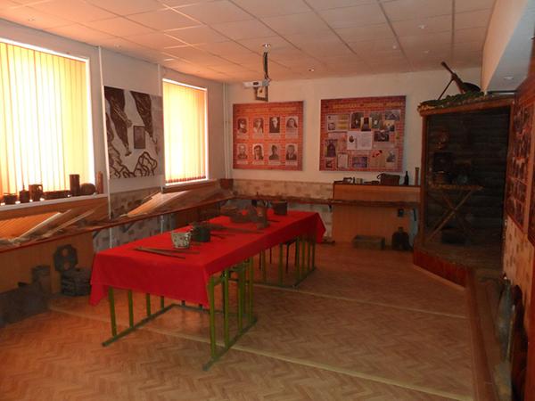 Экспозиция комнаты воинской славы 2-й ударной армии