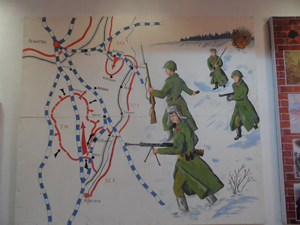 Карта боевых действий Волховского фронта